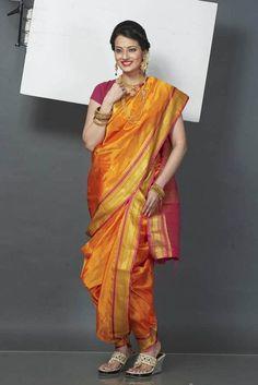 Marathi Saree, Marathi Bride, Kashta Saree, Sarees, Nauvari Saree, Beautiful Girl Image, Saree Styles, India Beauty, Indian Bridal