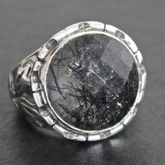 Sterling Silver Unique Handmade Ring for Men by KaraJewelsTurkey