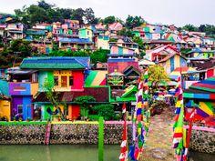 Colourful Kampung Pelangi (The Rainbow Village) Photo Diary. Wonosari, Semarang, Java, Indonesia.
