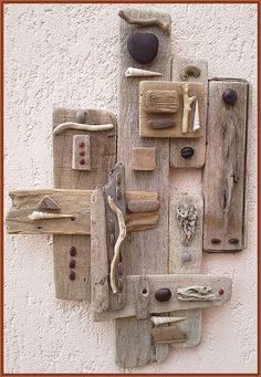 Read all of the posts by Recovery Focusing on Suzanne Noel - Naturally Beautiful Art Driftwood Wall Art, Driftwood Jewelry, Driftwood Projects, Found Object Art, Junk Art, Nature Crafts, Art Crafts, Pallet Art, Assemblage Art