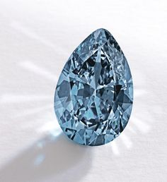 A 9.75-carat fancy vivid blue diamond set two new world auction records at Sotheby's New York, Nov 20, 2014