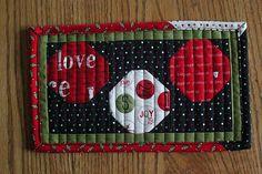 mug rug madness: holiday edition by canoeridgecreations, via Flickr