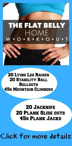 ABS Workout to help flatten the belly.  Great workout that can be done at home.  Do this workout with the 14 Day clean eating guide for amazing results in the midsection.