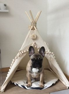 Pet Tepee Dog Bed Must Love Dogs Handmade Dog Treats Dog Collars Handmade Dog Products on the Handmade Childhoods blog by Fleur + Dot Fashion DIY Home Kids Play Food HandmadeChildhoods.com