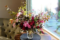 VW Garden: Roses and Crabapples in a Vase on Tuesday