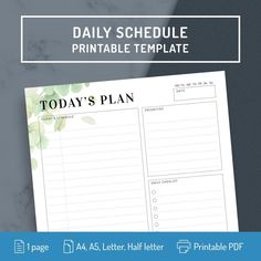 . Daily Schedule Printable, Daily Checklist, Printable Planner Pages, Printables, Monthly Meal Planner, Meal Planner Template, Student Planner, Daily Planner Pages, Passion Planner