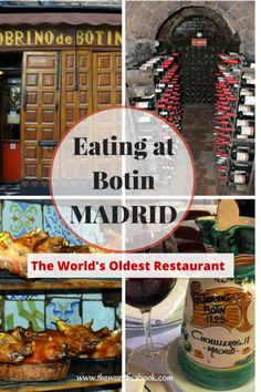 "Eating at Botin in Madrid: The World's Oldest Restaurant Go on a virtual historic dining experience at ""The World's Oldest Restaurant"" – Sobrino de Botin in Madrid, Spain with kids Spain Travel Guide, Europe Travel Tips, Travel Hacks, European Travel, Travel Destinations, At Madrid, Spain Madrid, Madrid Restaurants, Madrid Travel"