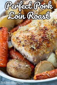 Boneless Pork Sirloin Roast, Boneless Pork Loin Recipes, Oven Roasted Pork Loin, Pork Roast In Oven, Pork Roast Recipes, Pork Meals, Beef Tenderloin, Roast Brisket, Roasted Chicken
