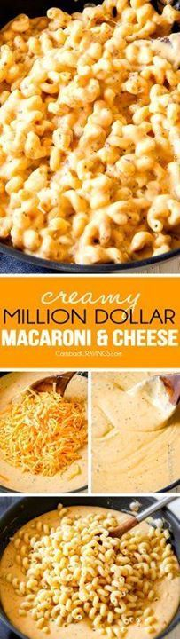 mega creamy MILLION mega creamy MILLION DOLLAR MACARONI AND...  mega creamy MILLION mega creamy MILLION DOLLAR MACARONI AND CHEESE is the only macaroni cheese recipe you will ever want to make! the casserole is stuffed with a hidden layer deliciousness you will go crazy for! my family LOVES this pasta! Recipe : ift.tt/1hGiZgA And My Pinteresting Life | Recipes, Desserts, DIY, Healthy snacks, Cooking tips, Clean eating, ,home dec  ift.tt/2v8iUYW