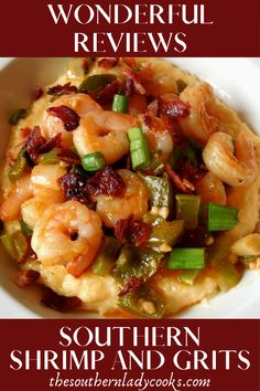 Exceptional Easy chicken recipes info are readily available on our web pages. Shrimp Recipes For Dinner, Shrimp Recipes Easy, Seafood Recipes, Chicken Recipes, Easy Shrimp And Grits, Shrimp Grits, Cajun Shrimp And Cheese Grits Recipe, Southern Dishes, Southern Recipes