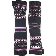 Trespass Childrens Girls Dione Knitted Arm Warmers (2/4 Years) (Black). Girls arm warmers. Perfect for wearing in the cold weather. Knitted. Woven label. Slip on.