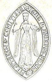Chrestien de Troyes: sceau de Marie de Champagne. - Poète français (Troyes v 1130-1195), le plus grand de nos trouvères. On est peu renseigné sur les évènements qu marquèrent sa vie. Il ne fut peut-être ni héraut d'armes ni clerc bien qu'il eût fait les études religieuses du Trivium. Il vécut à la cour de Maie de Champagne, fille de Louis VII et d'Aliénor d'Aquitaine, puis à celle du comte de Flandres, Philippe d'Alsace.