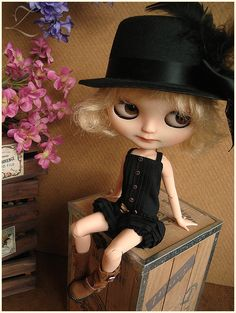 Blythe | Babydoll Playsuit | Deep Black | Blythe doll outfit | Blythe clothes | Blythe romper | onesie
