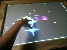 Simple, easy to build multi-touch table top computer.