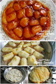 Para Páscoa, que tal a  famosa Tarte tatin com Massa Folhada Congelada? pá pum de fazer e deliciosa!