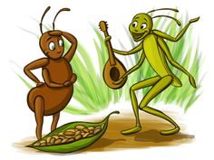 """Discuss the fable of The Ant and the Grasshopper and its """"saving for the future"""" moral. Rewrite the fable using human characters to make the spending and savings decisions. Pictures Of Ants, Ant Crafts, Economics Lessons, Block Center, Short Stories For Kids, Moral Stories, Leader In Me, 2nd Grade Classroom, Autumn Activities"""