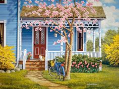 We are professional John Sloane supplier and manufacturer in China.We can produce John Sloane according to your requirements.More types of John Sloane wanted,please contact us right now! Creation Photo, Cottage Art, Country Landscaping, Country Art, Naive Art, Beautiful Paintings, Front Porch, Home Art, Painting & Drawing