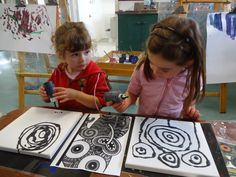 Some of the children have been using black PVA paints on canvas. This type of paint creates a puffed, raised look when applied. Once this is dry the children have then used a range of beautifully coloured dyes to fill in all the white spaces. As you can see the effects of this art process are dramatic and stunning.