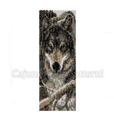 WINTER WOLF 2Peyote2 DropBeaded Cuff by CajunsDesignPatternS, $4.50