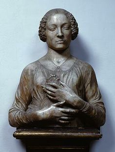 Woman with Flowers - Andrea del Verrocchio. c.1475-80. Museo Nazionale