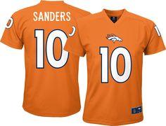 Team Apparel Youth Denver Emmanuel Sanders  10 Orange T-Shirt d438ef04f