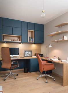 creative Business Office Design Ideas for men - Home Office Design-Almos. creative Business Office Design Ideas for men – Home Office Design-Almost everyone loves Small Office Design, Office Interior Design, Office Interiors, Office Designs, Lobby Interior, Office Cabinet Design, Office Table Design, Small Space Interior Design, Home Office Space