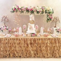 Thank heaven for little girls  | Full #desserttable shot | #eventstyling #decor #racheljspecialevents | #gorgeous #cake @cakesbyarmine | #beautiful #cakepops @chocolate_favors_pops | #delicate #meringuetowers @karin_jingozian | #decoratedcookies @sugarspoonbakery | #eclairs #frechdesserts @anougesweetdesigns | #fabulous #flowers @cvalleyflowers | #love #baptism #baptismcake #dessert #candybar #sweets #girl #danity #bridalshowerideas #weddingcakeideas #pink #instacute #girly #christening…