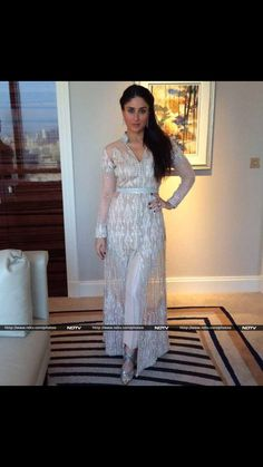 "Actress Kareena Kapoor was dressed to kill in Pakistani designer Faraz Manan's pastel creation from his spring summer collection 'Florence'. Kareena looked picture perfect in the Indo-Western outfit, which Faraz says was made for an international appeal. ""This is one of my favourite numbers from my spring summer couture - 'Florence'"", Faraz Manan told NDTV."