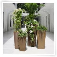 Lightweight Crescent Garden planters are attractive and functional