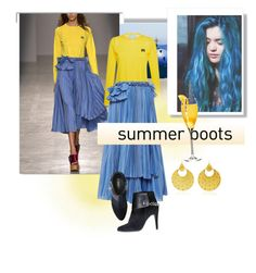 """""""summer Boots"""" by shreya-stark ❤ liked on Polyvore featuring White Label, Rochas, Sanjay Kasliwal and Avon"""
