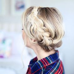 #braided hair with #balayage hairstyles for fall / winter | cute | chic | for girls and women | easy | for beginners | #hairstyles | natural wavy and curl | updo braid hair