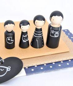 Familia de Pizarra El Pez Volador / Chalkboard People El Pez Volador