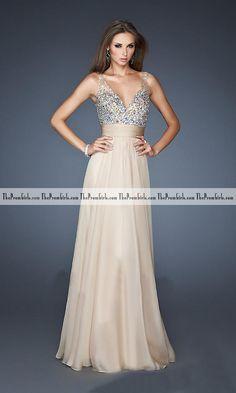 2013 Prom Dresses White A Line V Neck Chiffon Floor Length - Long Prom Dresses - Shop Prom