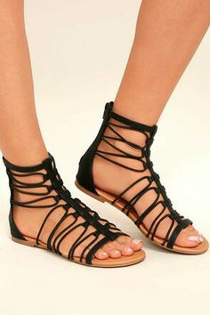 d52712d5681 The Jora Black Gladiator Sandals are versatile