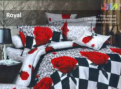 5D Designed Bed Set    For a perfect makeover of your bedroom, spread this multicoloured double bed sheet set. The amazing floral print is the sole feature of this bed sheet set that will add a new dimension to your bedroom decor.
