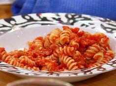 Giada De Laurentiis' Fusilli with Homemade Marinara Sauce  Recipe