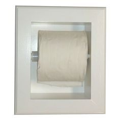 Constructed of durable solid pine and finished in a satin white enamel, this Deltona series toilet paper holder makes a great addition to your home. This recessed toilet paper holder includes a staina