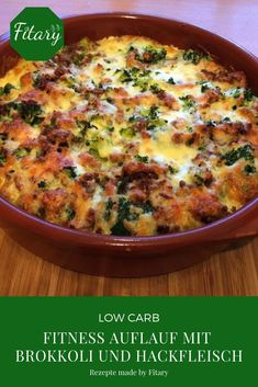 abendessen Low Carb - Fitness casserole with broccoli and minced meat - Essen und trinken. Low Carb - Fitness casserole with broccoli and minced meat - Essen und trinken - No Calorie Foods, Low Calorie Recipes, Meat Recipes, Healthy Recipes, Noodle Recipes, Meatloaf Recipes, Recipes Dinner, Healthy Foods, Healthy Eating Tips
