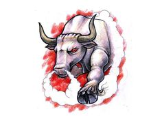 Bull Tattoos brought to you by Free Tattoo Ideas - Get your Tattoo Ideas, Tattoo Designs and Tattoo Flash at FreeTattooIdeas.net