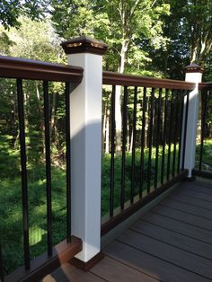 Outdoor Deck Ideas - Assume outside the conventional timber platform with wise design concepts for a range of setups and spending plans. Deck Railing Design, Patio Railing, Deck Design, Railing Ideas, Pergola Ideas, Pergola Swing, Trex Railing, Pergola Patio, Pergola Plans