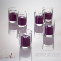 Purple Votive Candles Unscented 10 Hour Set of 144 $29.99
