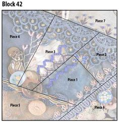 Pintangle crazy quilt block pattern 42