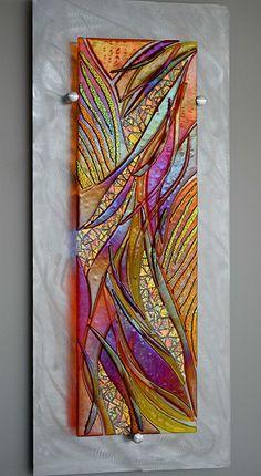 The Art - cathymshepherd Glass Painting Patterns, Glass Painting Designs, Stained Glass Designs, Stained Glass Patterns, Paint Designs, Glass Artwork, Glass Wall Art, Fused Glass Art, Stained Glass Art