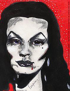Art work Maila / self portrait as vampira 2003.