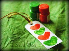 """Celebrate India - Make a tricolor thumbprint bookmark-  cute India Flag coloured bookmark"""""""