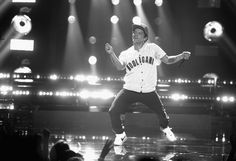 Bruno Mars Photos Photos - Image was converted to black and white.)  Bruno Mars performs onstage at 2017 BET Awards at Microsoft Theater on June 25, 2017 in Los Angeles, California. - 2017 BET Awards - Show