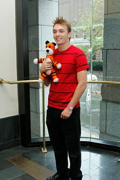 Calvin and Hobbes, Boston Comic Con 2012. Cutest cosplay ever, brings back memories..