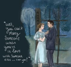 """""""Well you can't marry someone when you're in love with someone else, can you?"""" -Sound of Music  #Soundofmusicillustration #soundofmusicart #julieAndrews #JulieAndrewsillustration #Soundofmusicromanticillustration #soundofmusickiss"""