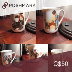 Spotted while shopping on Poshmark: Vintage Norman Rockwell Mugs! Norman Rockwell, Drinkware, Note, Dishes, Mugs, Dining, My Favorite Things, Tableware, Closet
