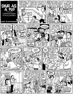 A panel from Dykes to Watch Out For, the comic strip Bechdel wrote for 25 years. Comic Books Art, Book Art, Alison Bechdel, Passed The Test, Graphic Novels, Memoirs, Comic Strips, Hand Drawn, How To Draw Hands